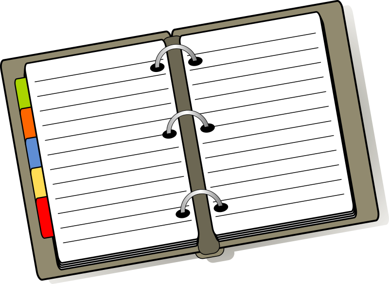 Planner clipart cartoon. Diary medium image png