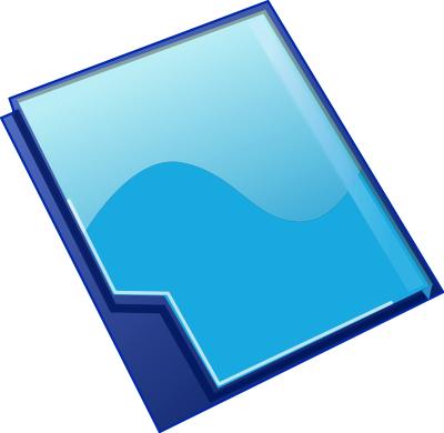 Cliparts co assignment folder. Binder clipart blue