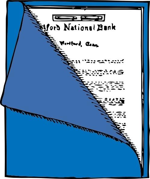 Folder clip art free. Binder clipart blue