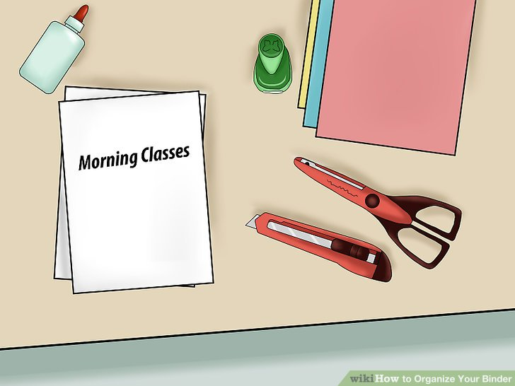 Binder clipart class. How to organize your