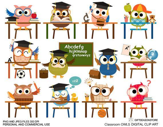 Binder clipart classroom. Cultural labels owl clip