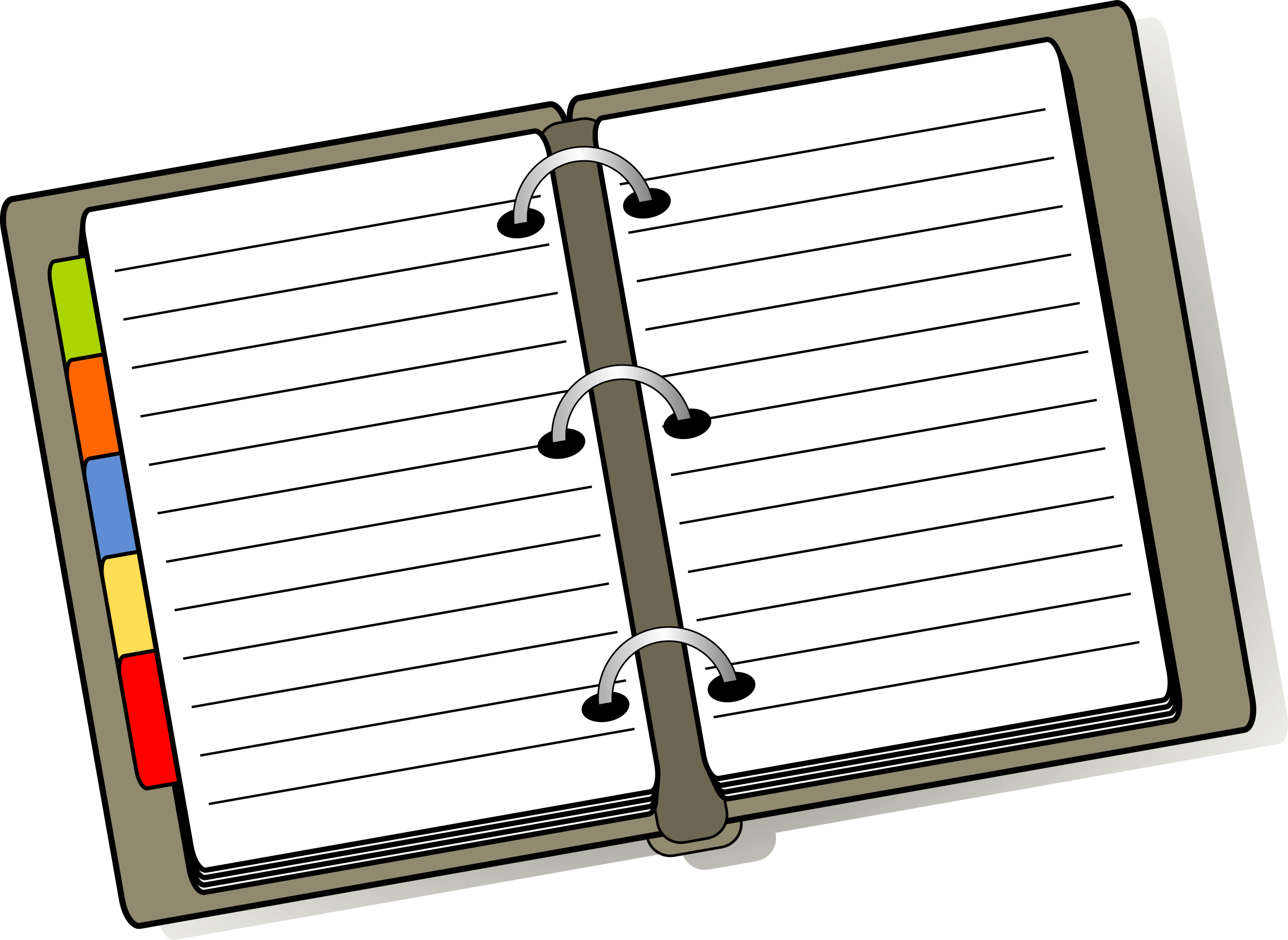 Diary big image png. Planner clipart weekly planner