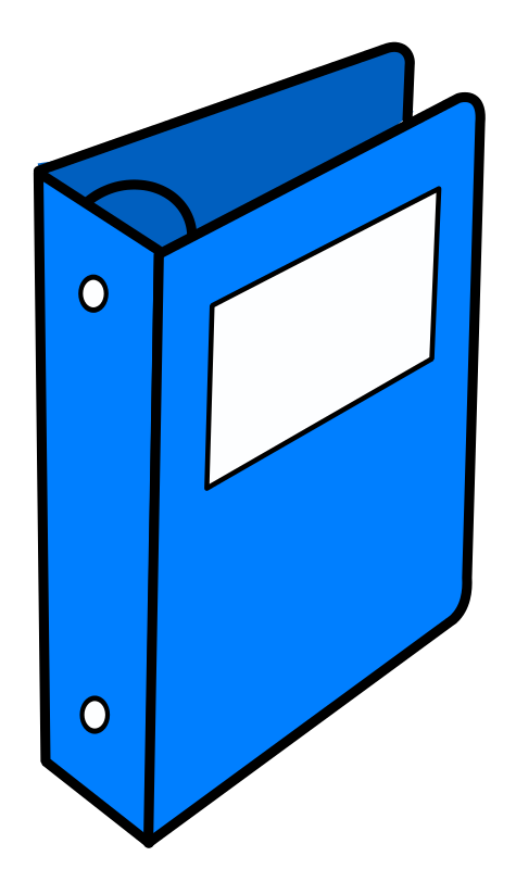 Image of binder clip. Notebook clipart school folder