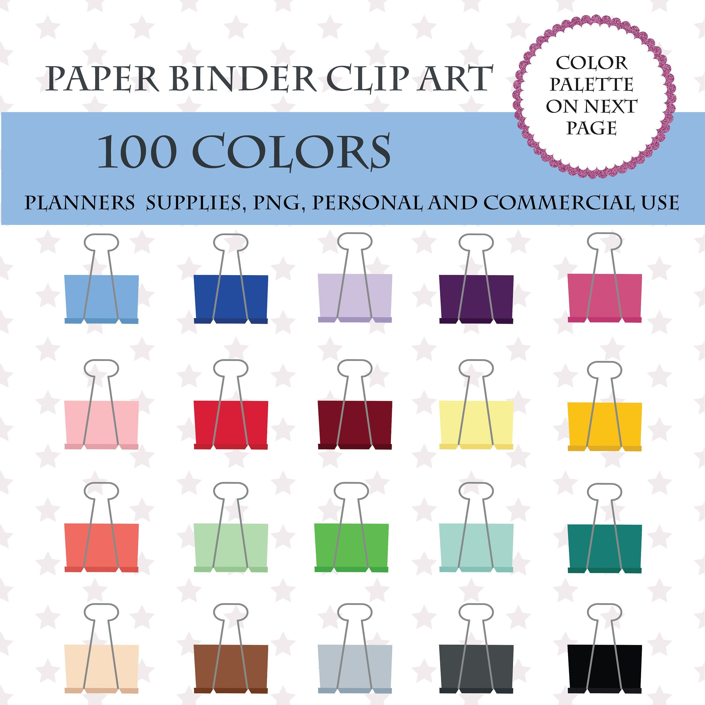 Planner clipart binder paper.  colors clip art