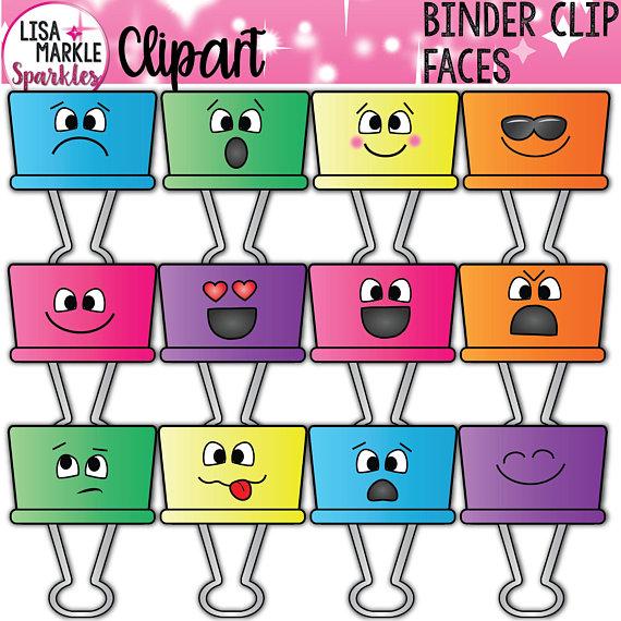 Binder clipart file. Emoji emotion clip planner