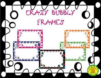 Crazy bubbly frames arts. Binder clipart language art