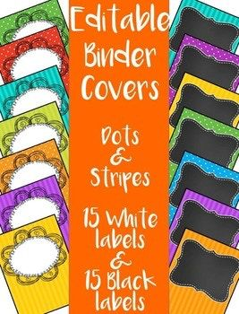 Covers premade editable bright. Binder clipart language art