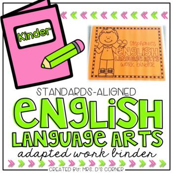 Kinder english arts adapted. Binder clipart language art