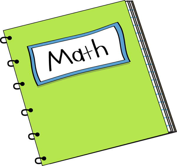 Clip art vector image. Notebook clipart math work
