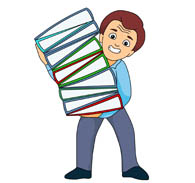 Free clip art pictures. Binder clipart office worker