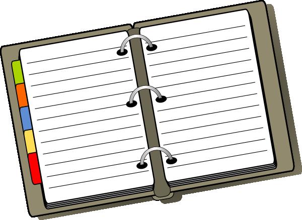 Organized clipart notebook binder. Clip art at clker