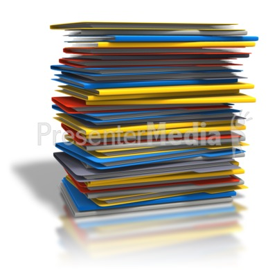Of folders home and. Binder clipart pile document