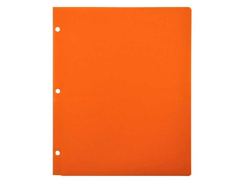 Binder clipart pocket folder.  plastic for orange