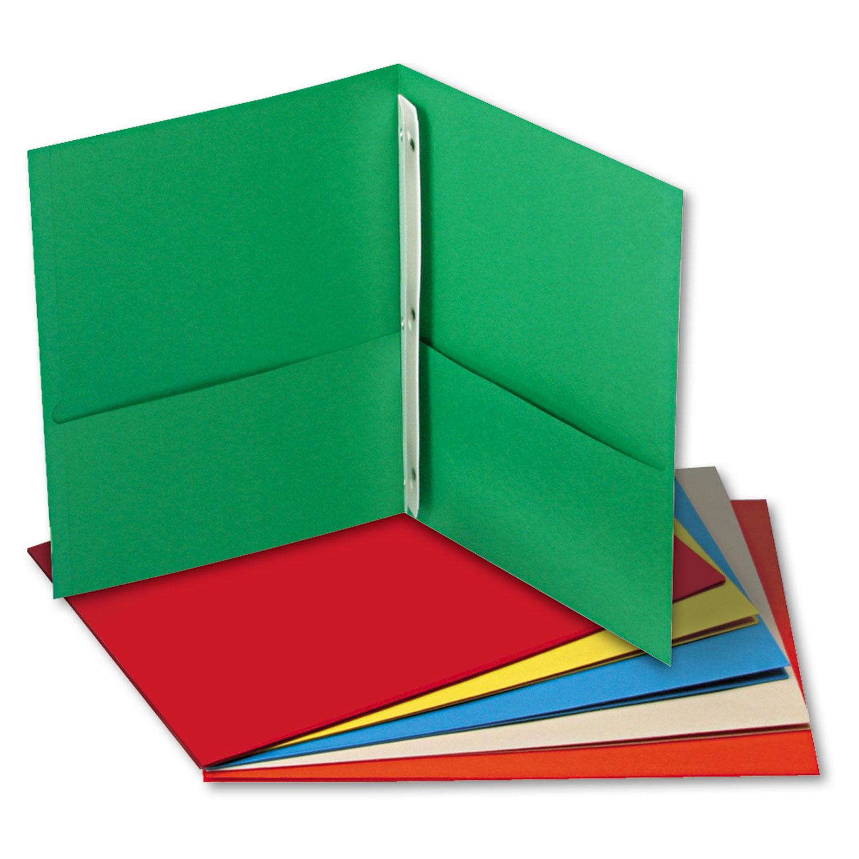 Two portfolios w tang. Binder clipart pocket folder