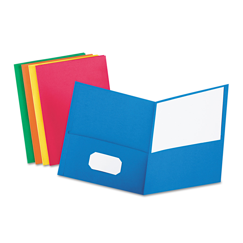 Binder clipart pocket folder. Twin embossed leather grain
