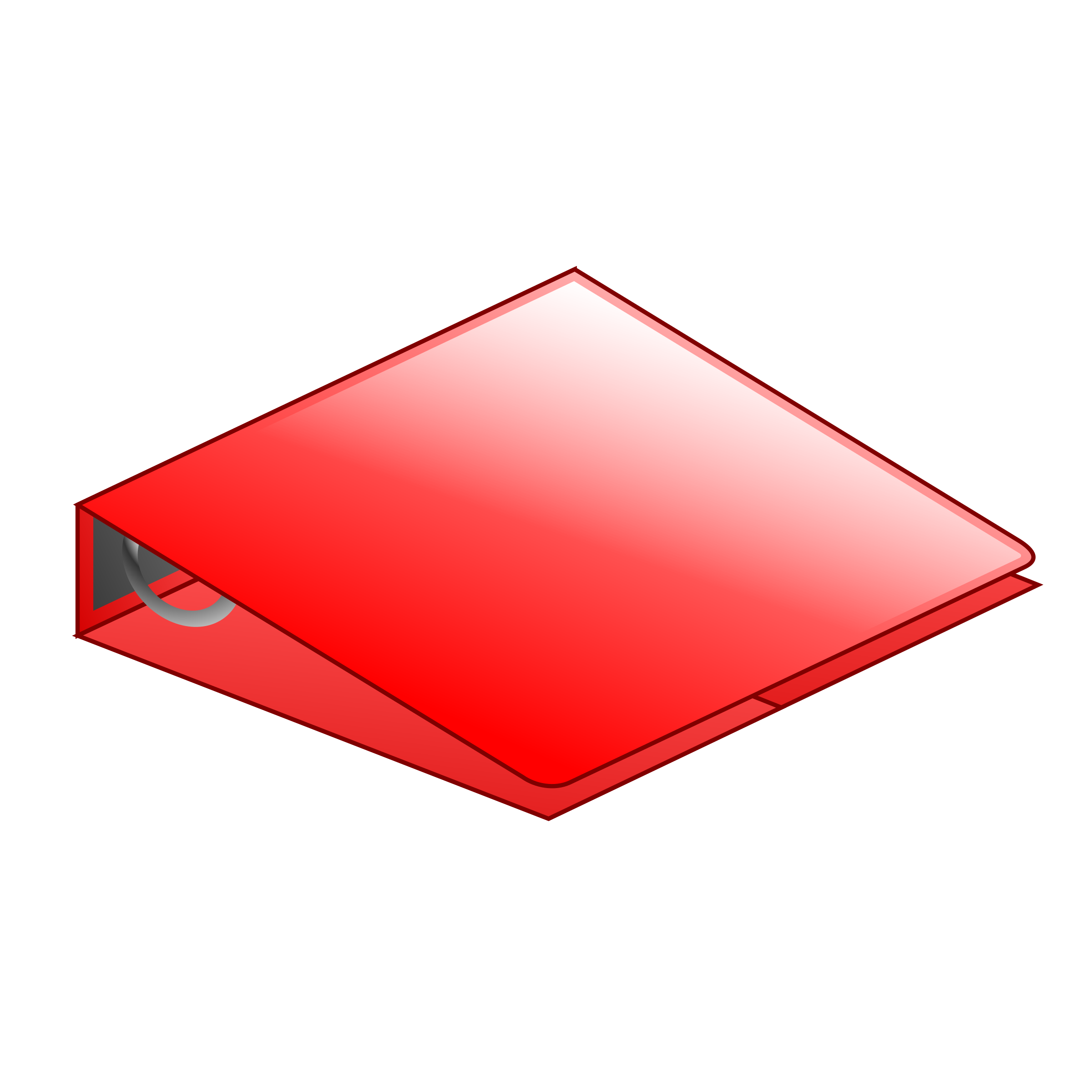 Red ring binder icons. Folder clipart organized file