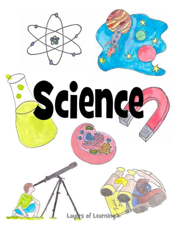 Notebook clipart scince. Printable student covers science
