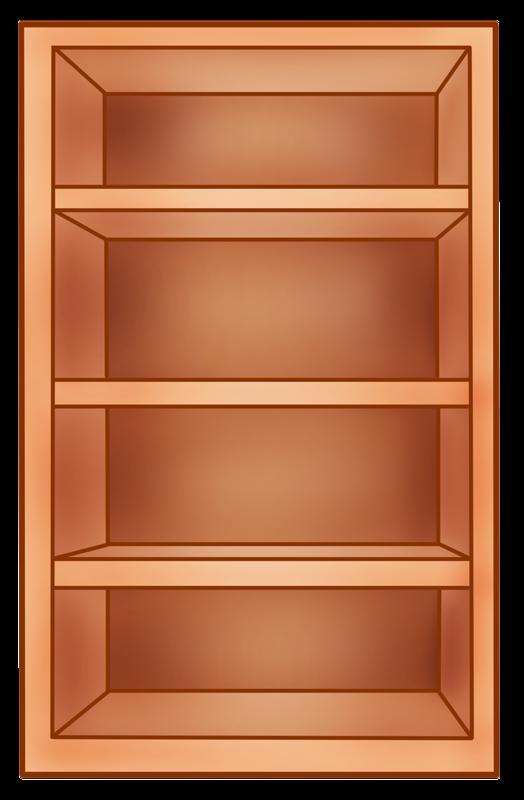 Furniture clipart bookshelf.  png clip art