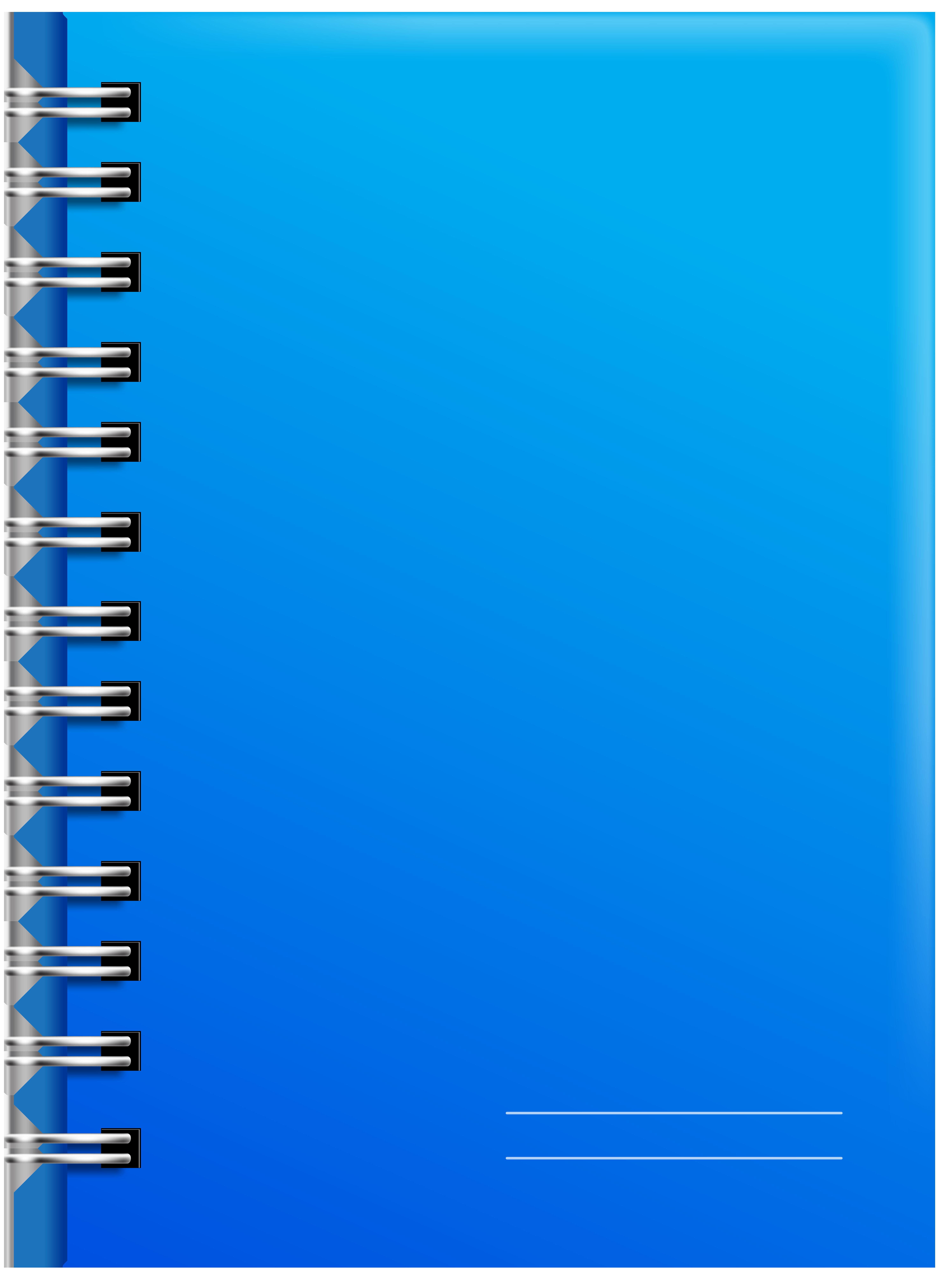 Notebook clipart blue notebook. Spiral png clip art