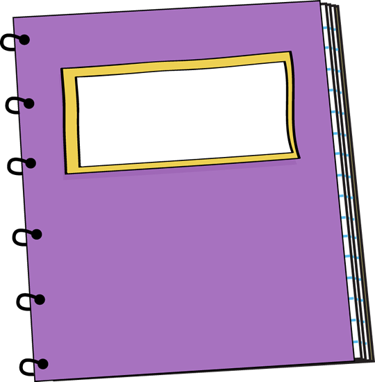 Purple spiral school pinterest. Notebook clipart clip art