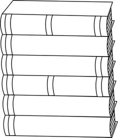 Books clipart outline. Stack of clip art
