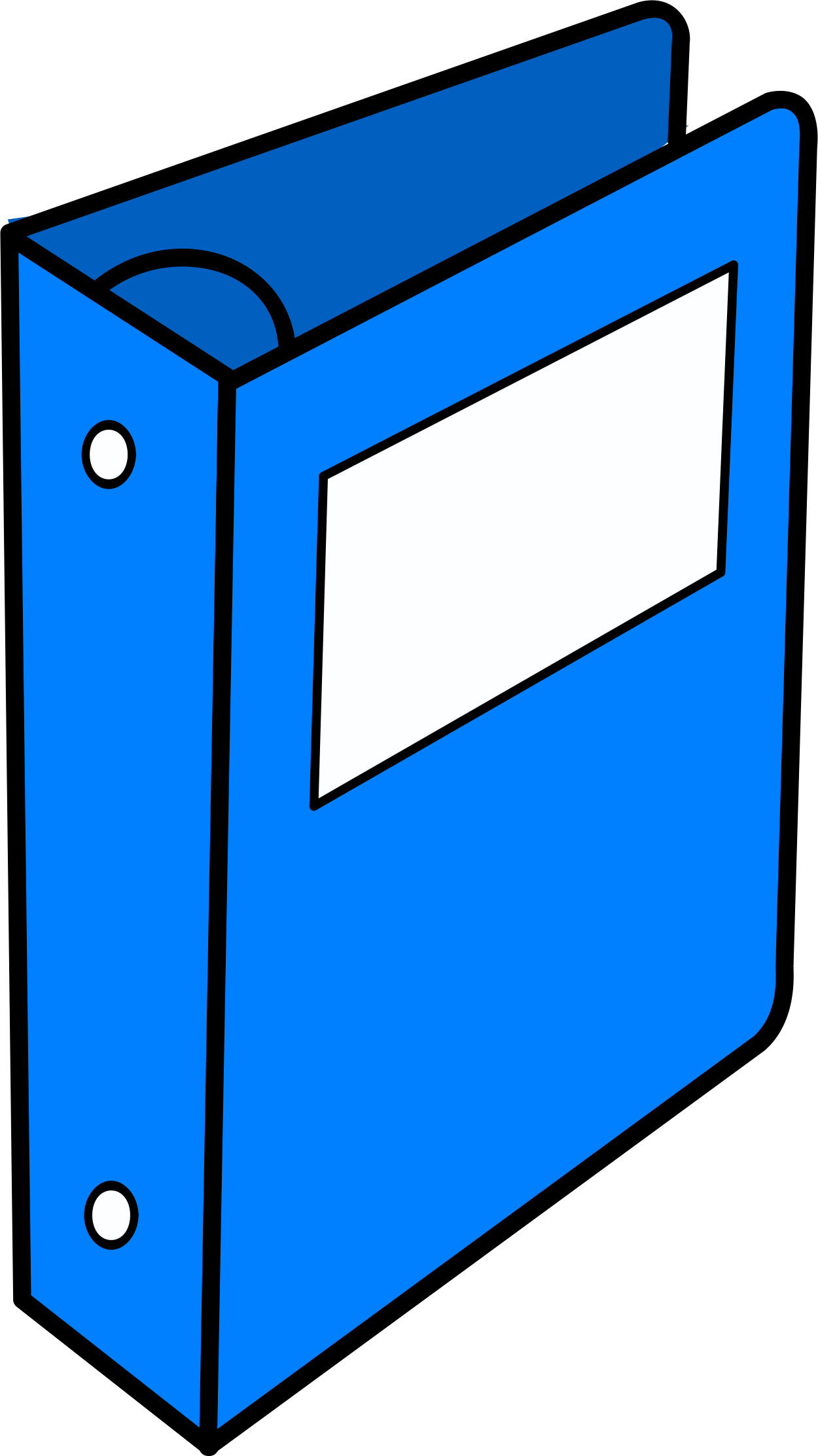 Folder clipart organized file. Image of binder blue