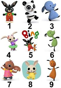Bing Characters Large Sticky White Paper Stickers Labels NEW