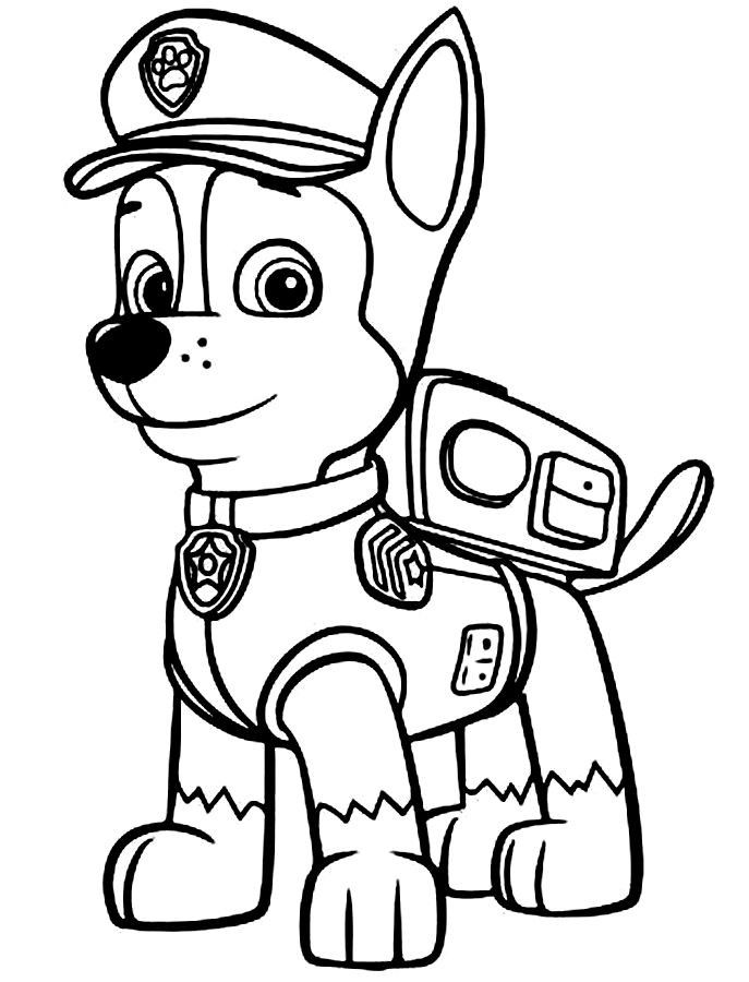 Bing clipart colour. Paw patrol coloring pages