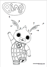 Bing clipart colour. Activities bunny dot to