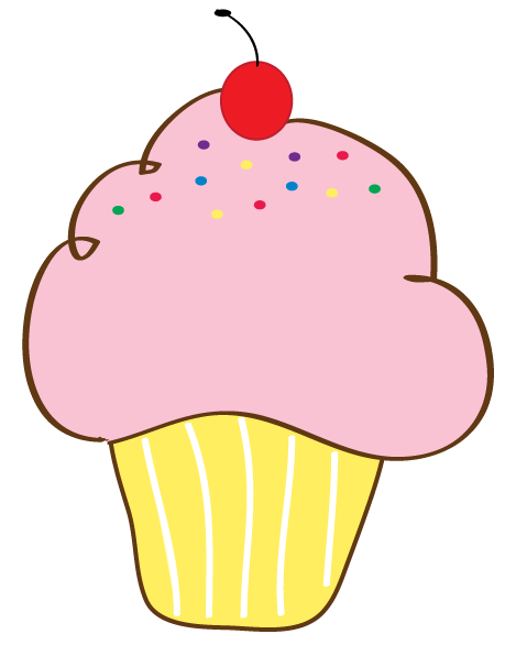 Bing clipart cupcake. Free printable clip art