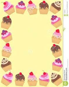 Desserts clipart borders. Cupcake and frames bing