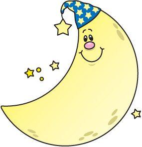 Moon clip art images. Bing clipart cute