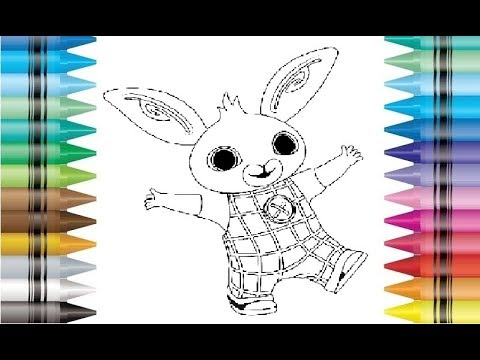 Bing clipart drawing. Bunny rabbit cbeebies coloring