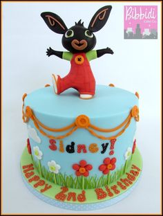 Birthday cake bunny topper. Bing clipart fondant