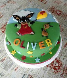 Bing clipart fondant. Birthday cake bunny topper