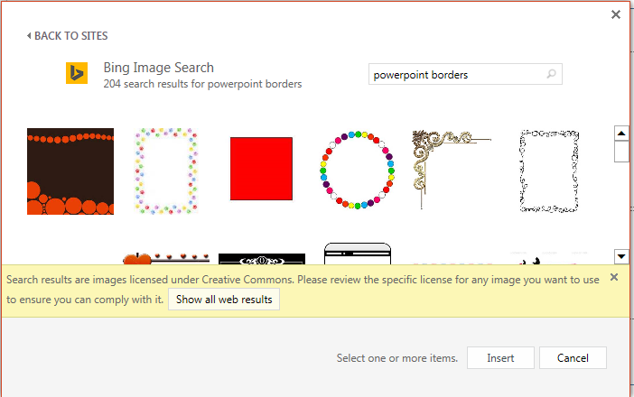 Add a border to. Bing clipart powerpoint