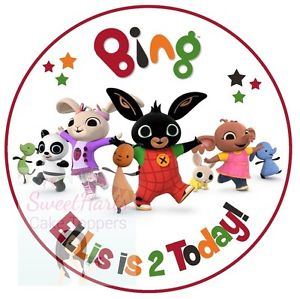 Bing clipart topper. Cbeebies cake inches round