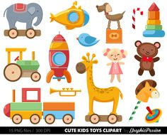 illustrations of toys