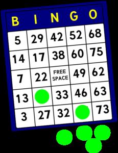 Bingo clipart. Free clipartix