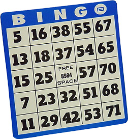 Big card . Bingo clipart bingo board