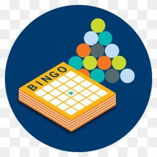 A stack of cards. Bingo clipart bingo board