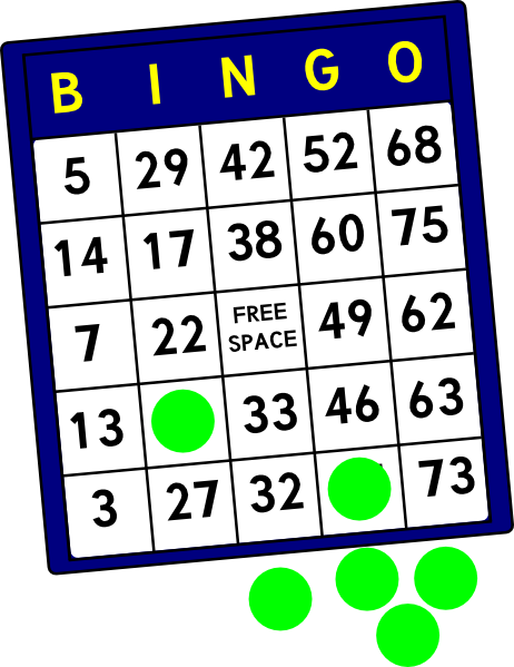 Clip art at clker. Bingo clipart bingo card