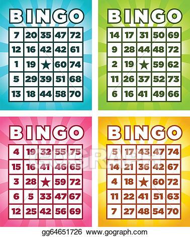 Bingo clipart bingo card. Vector art cards eps
