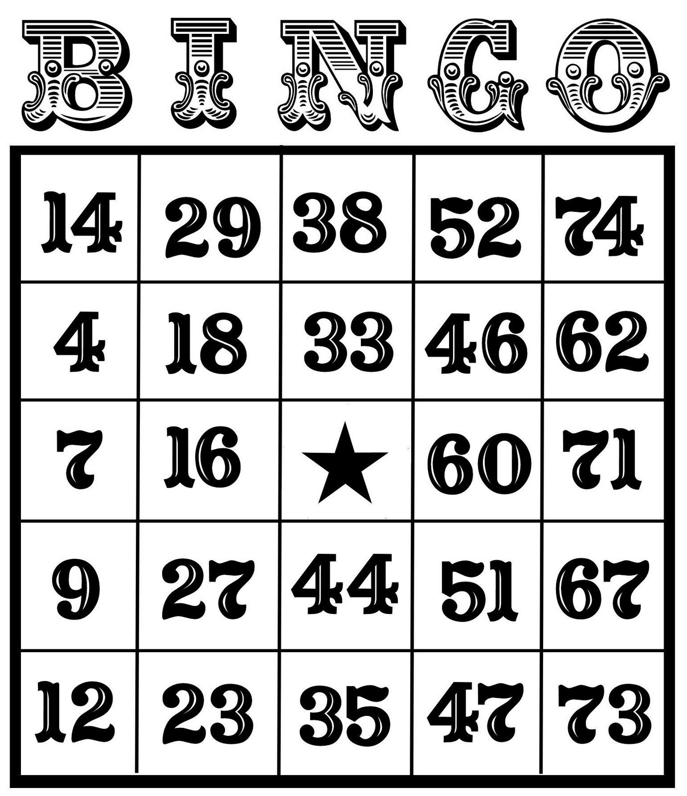 Bingo clipart bingo card. Christine zani printables to