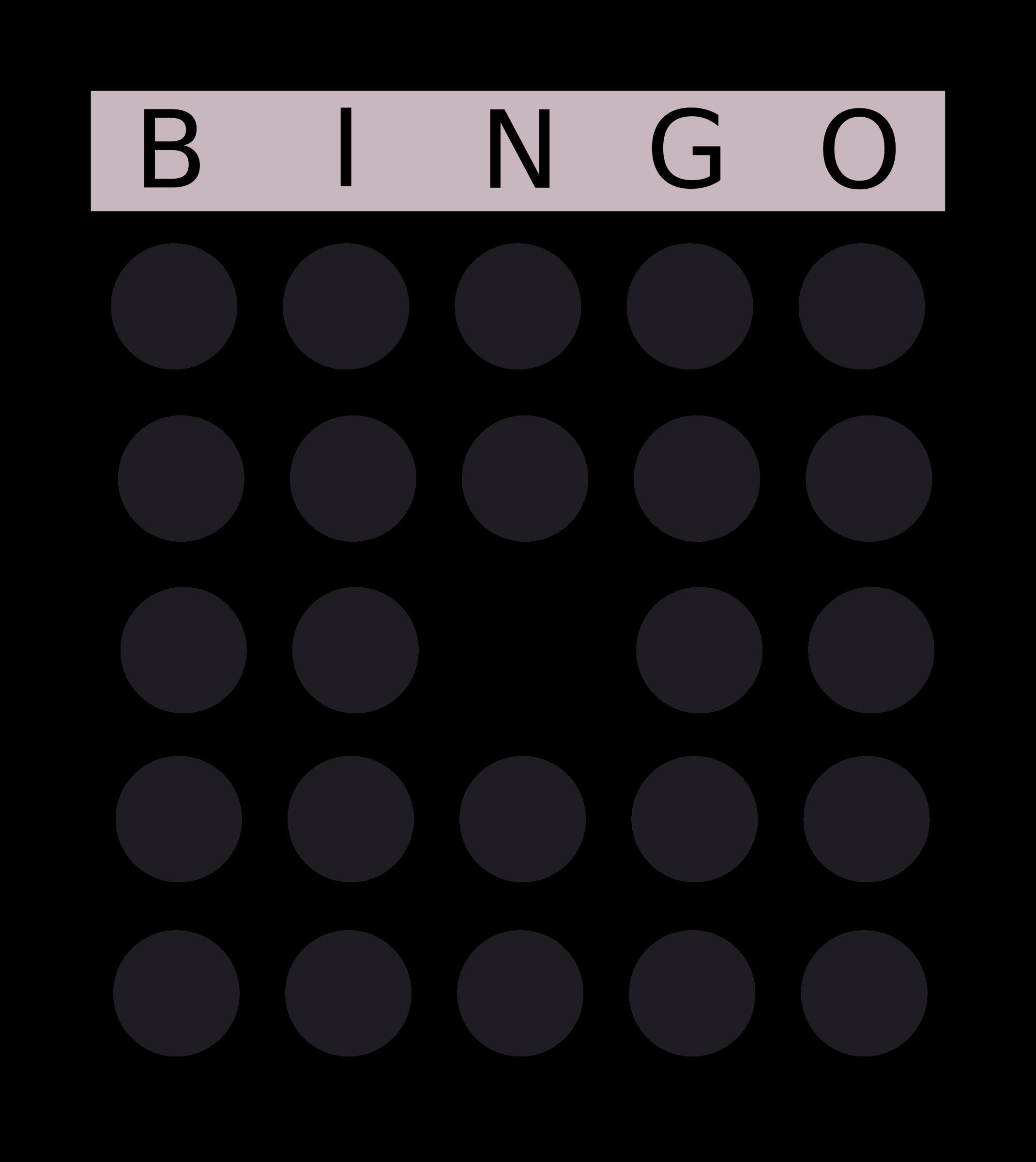 Bingo card big image. Dot clipart square