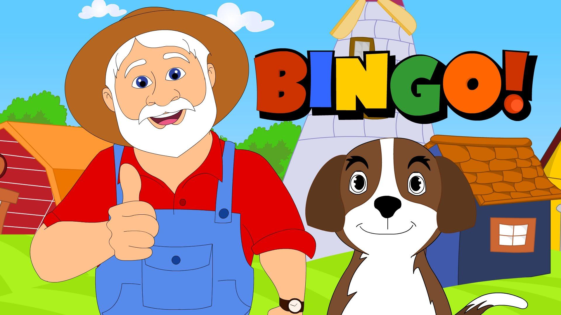 Dog song nursery rhymes. Bingo clipart children's