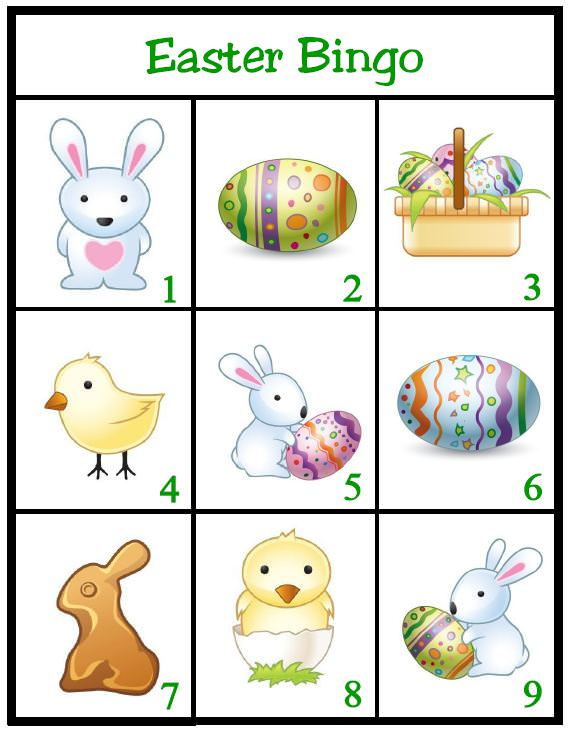 Bingo clipart easter. Game for kids free