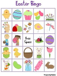 Printable game games and. Bingo clipart easter