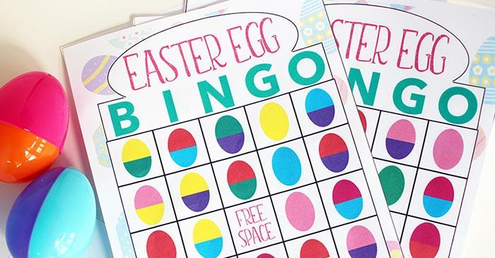 Bingo clipart easter. Egg printable game for