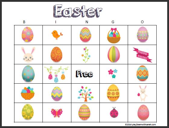 Free printable cards life. Bingo clipart easter